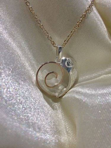 Rose Gold Plated Sterling Silver Heart Necklace SB4